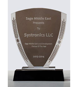 Sage Middle east Local Development Partner Of The Year 2013-2014