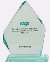 Sage Development  Partner of the Year 2006-2007 - International Achievement Award