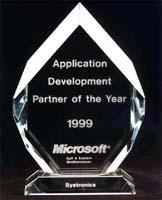 Microsoft - Application Development Partner of the Year 1999